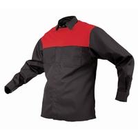 TWZ Contrast Long Sleeve Polycotton Shirt 170gsm