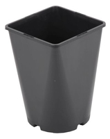 Aeroplas Container Pot Square/Round Slotted 3lt - Black