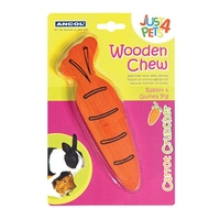 Ancol Wooden Carrot Cruncher Gnaw x 1
