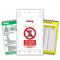 MEWP inspection tagging system (10 per pack)