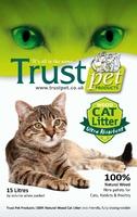 Trust Wood Pellet Cat Litter 15 Litre