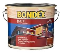 BONDEX WOOD STAIN MATT FINISH REDWOOD 2.5 LTR