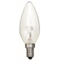 35MM TOUGH LAMP CANDLE  240/50V 25WATT SES/E14 CLEAR