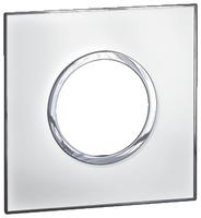 Arteor (British Standard) Plate 2 Module 1 Gang Round Mirror White | LV0501.0173