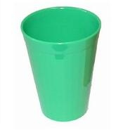 Beaker Fluted Polycarbonate Green 15cl 5oz