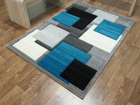 TEMPO - SQUARES - GREY/TEAL