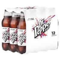 Bottle Dr Pepper Zero-(12x500ml) GB PM £1.09