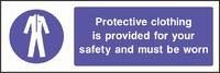 Mandatory and Protective Clothing Sign MAND0002-0907