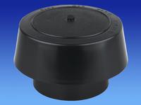 Soil Pipe Rainproof Cowl 110mm Pipe Black PVC