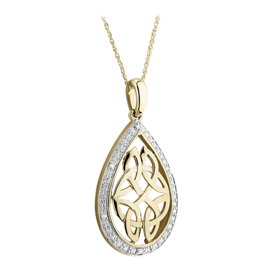 9K DIAMOND CELTIC KNOT PENDANT