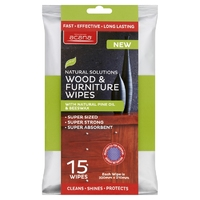 Acana Premium Wood & Furniture Wipes 15pk