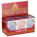 PLAYING CARDS LUXOR RED x12