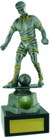 25cm Soccer Trophy (Ant Silv / Gold)