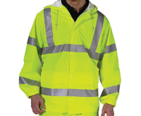 REDBACK Dri-Flex PU Hi-Visibility Waterproof Unlined Jacket Yellow