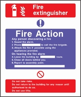 Fire Action Sign FACT0007-0444