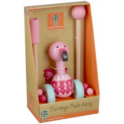flamingo push along boxed