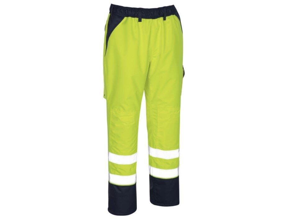 MASCOT Linz Hi-Vis Waterproof Trousers Yellow/Navy