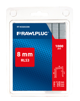 RAWLPLUG STAPLES RL53 8 MM (PAK 1000)