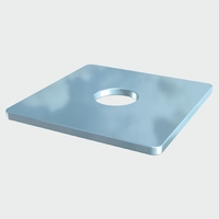 Timco Square Plate Washers - Zinc