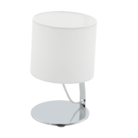 EGLO Nambia 1 Polished Chrome with White Shade Round Table Lamp | LV1902.0078