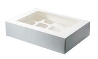 CUPCAKE MUFFIN BOX WHITE (Holds 12)