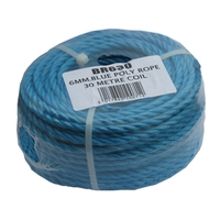 BLUE POLYROPE 6MM X 30MTR COIL