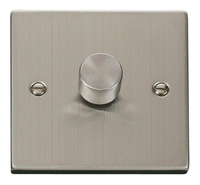 Click Deco Victorian Stainless Steel 1 Gang 2 Way Dimmer  | LV0101.0105