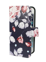 FOLIO1284 iPhone 5/SE Pink Rose on Navy