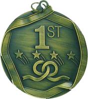 60mm 1st Place Medallion (Antique Gold)