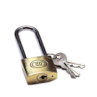 TRI CIRCLE 38 MM BRASS PADLOCK LONG SHACKLE
