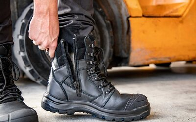 A Safety Boot for Drivers and Operators