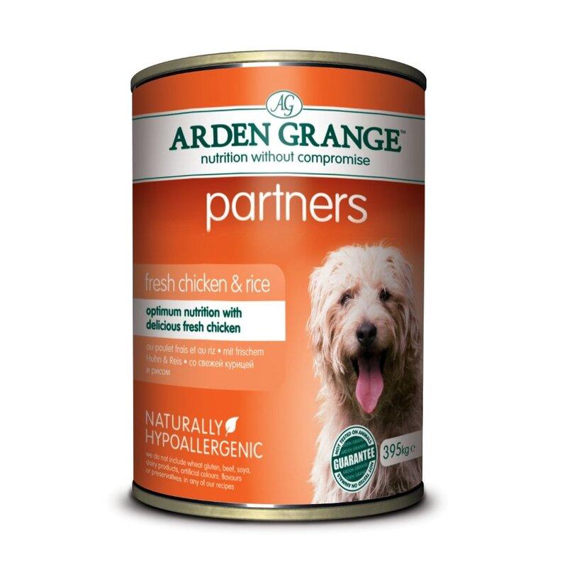 Arden Grange Partners Chicken, Rice & Vegetable Dog Food 4 x 6 x 395g