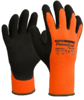 PowerGrab Thermo Winter Gloves Grey/Orange