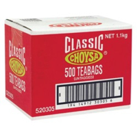 Choysa Classic Tagless Tea Bags Ctn 500