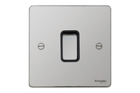 Schneider Ultimate Low Profile Intermediate Switch Polished Chrome with Black Insert | LV0701.0060