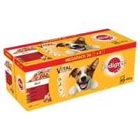 Pedigree Pouches Adult - Mixed Selection in Jelly 100g x 40 for 36pk