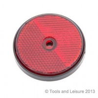 SCREW FIT ROUND REFLECTOR RED