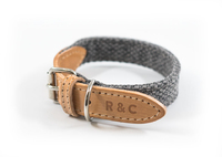 Ralph & Co Canvas & Leather Collar - Windsor Grey Small x 1