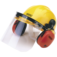 Draper Safety Helmet, Ear Muff & Visor