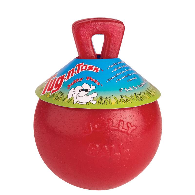 Rosewood Jolly Ball Tug-N-Toss Red 20cm