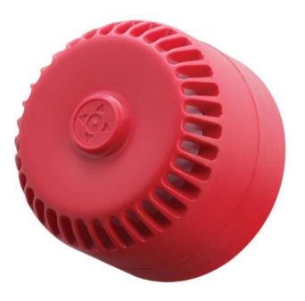 Fire Alarm Sounder 9-28vdc Shallow Base Red