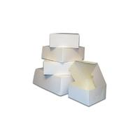 """90050 WHITE 8"""" CAKE BOXES SINGLE"""