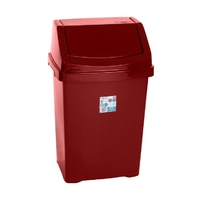 Casa 50L Swing Bin Chilli Red