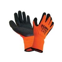 Knitshell Thermal Gloves Orange/Black
