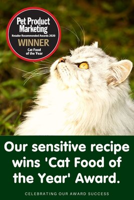 Our sensitive recipe is 'Cat food of the Year'!