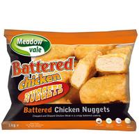 Chicken Nuggets (Battered) Halal-Meadow Vale-(2x1kg)