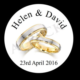 WEDDING RINGS LABEL