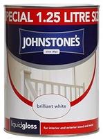 JOHNSTONES LIQUID GLOSS BRILLIANT WHITE 1.25 LTR