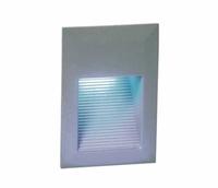 ONE Light Rectangular Grey Recessed LED Brick Light IP54