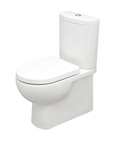 SONAS TONIQUE FULLY SHROUDED WC W360 X H830 X D625 MMBACK TO WALL WITH CISTERN AND S/C SEAT